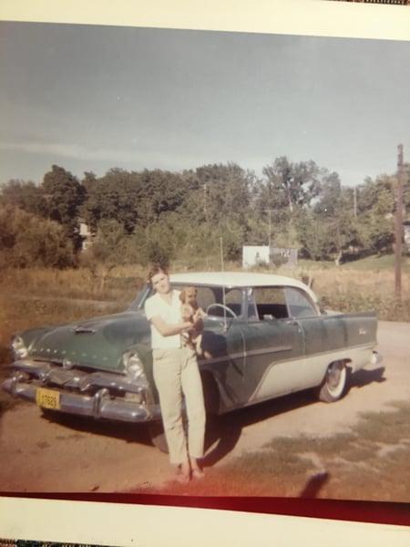 Irene & car
