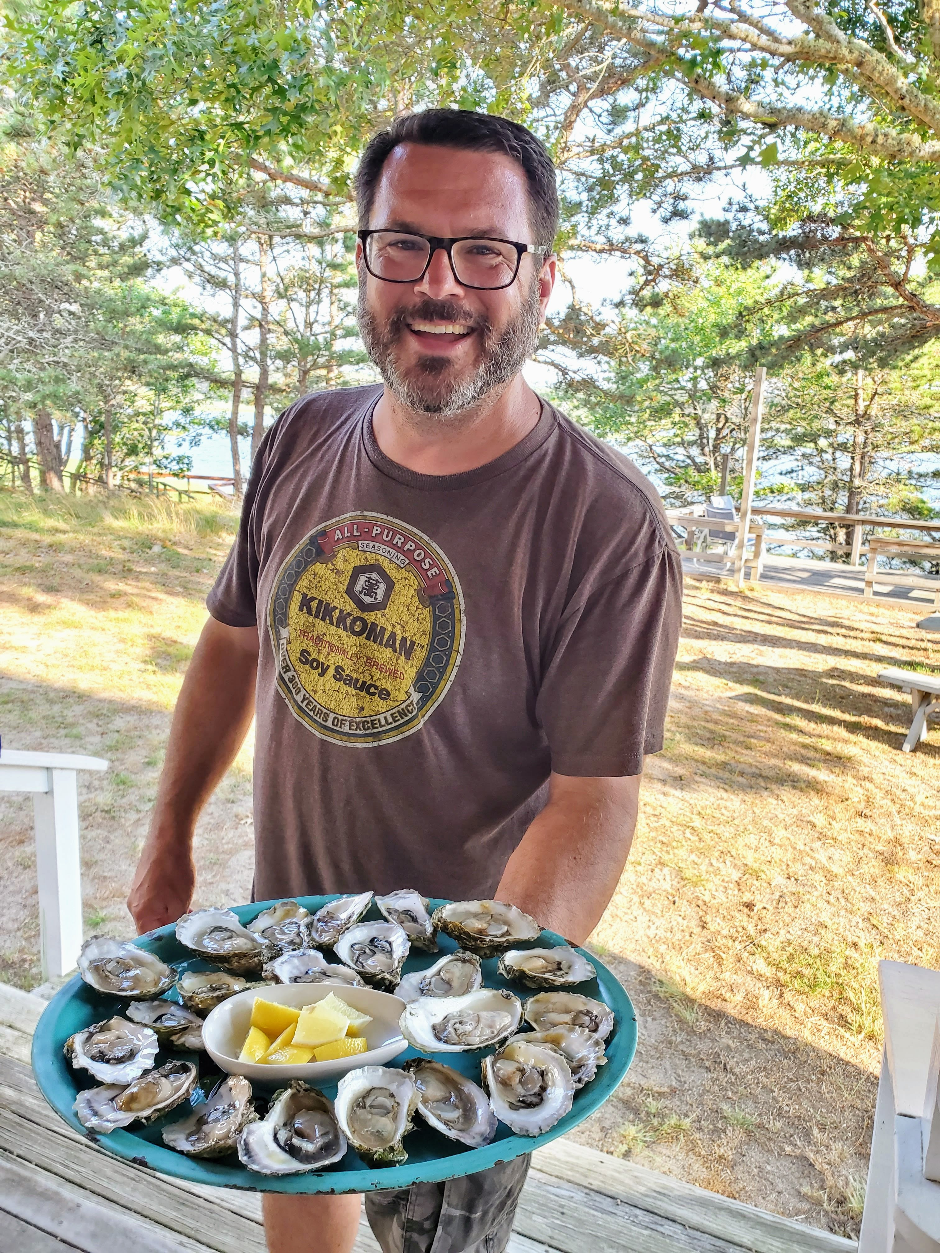 Mike raw oysters