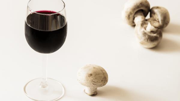 Mushrooms and Wine