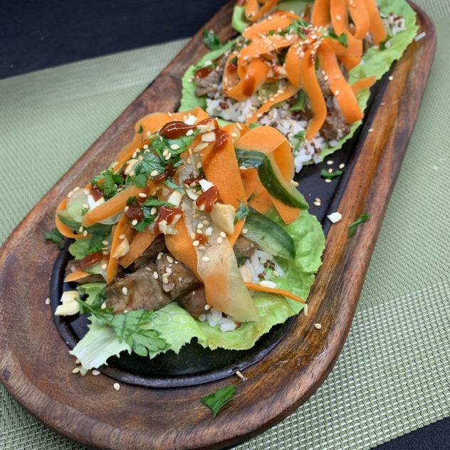 TCB - asian beef lettuce cup
