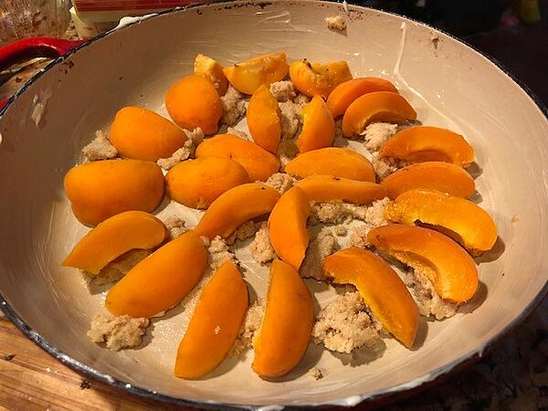 apricots and topping