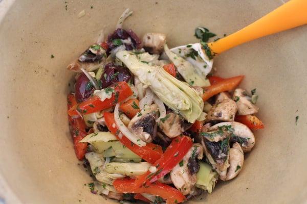 artichoke salsa bowl