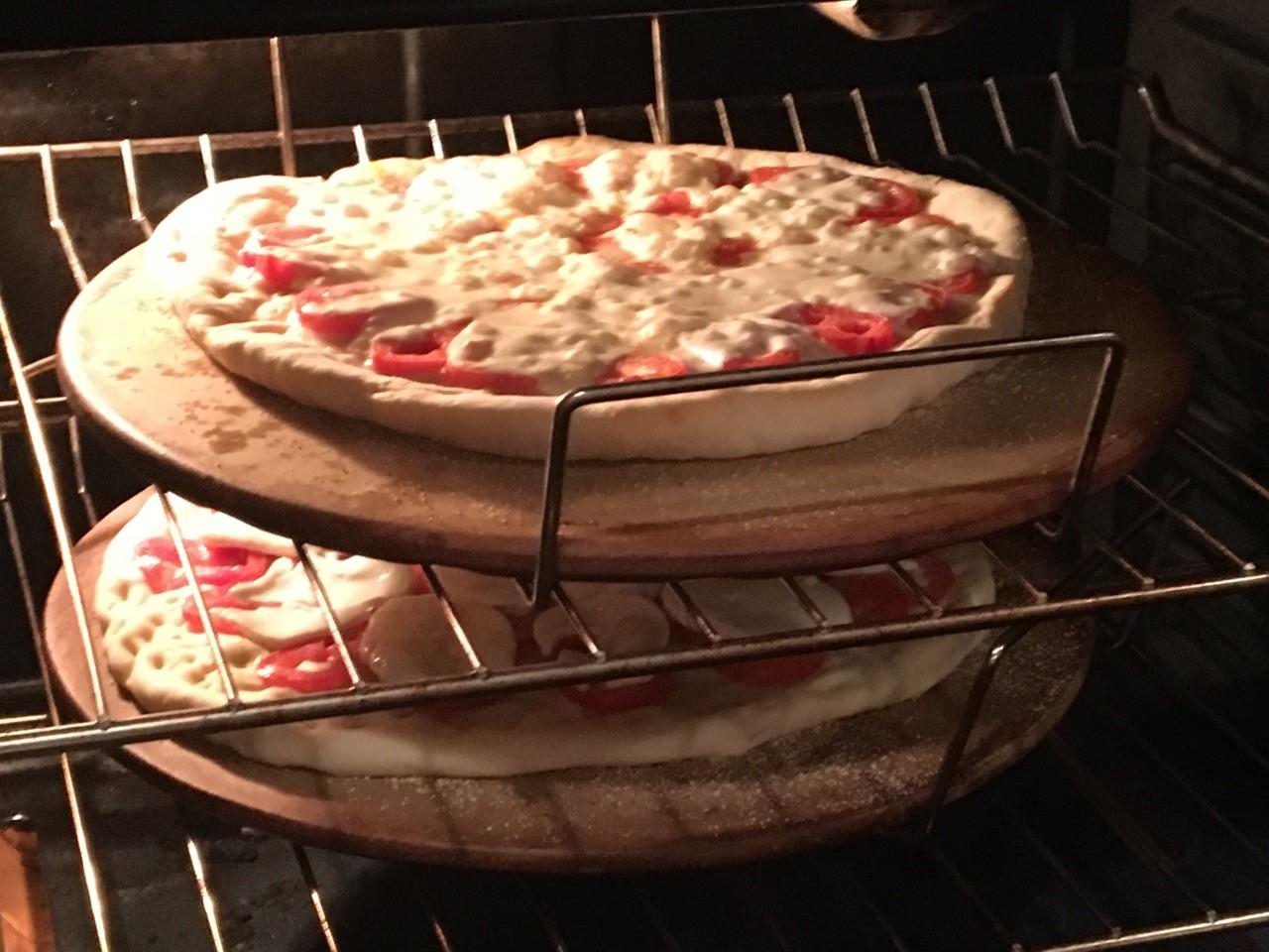 baking pizzas