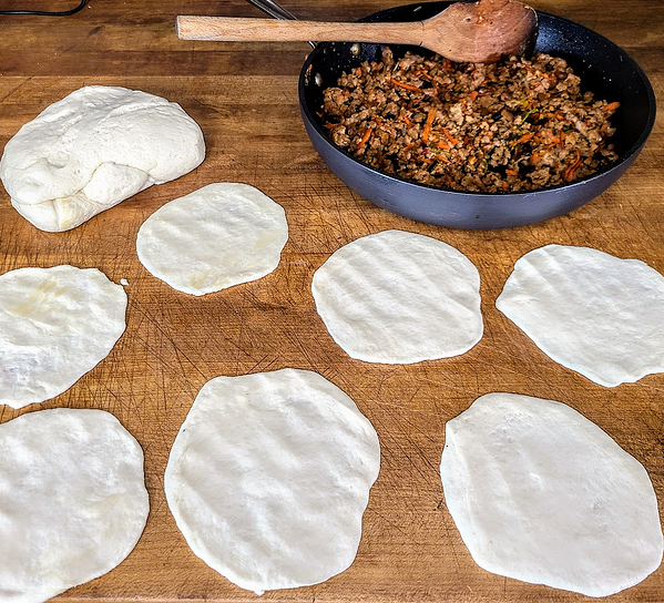 bao circles and filling
