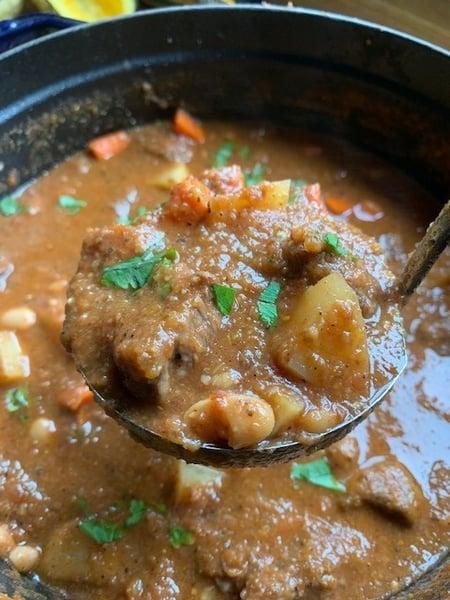 beef stew ladle