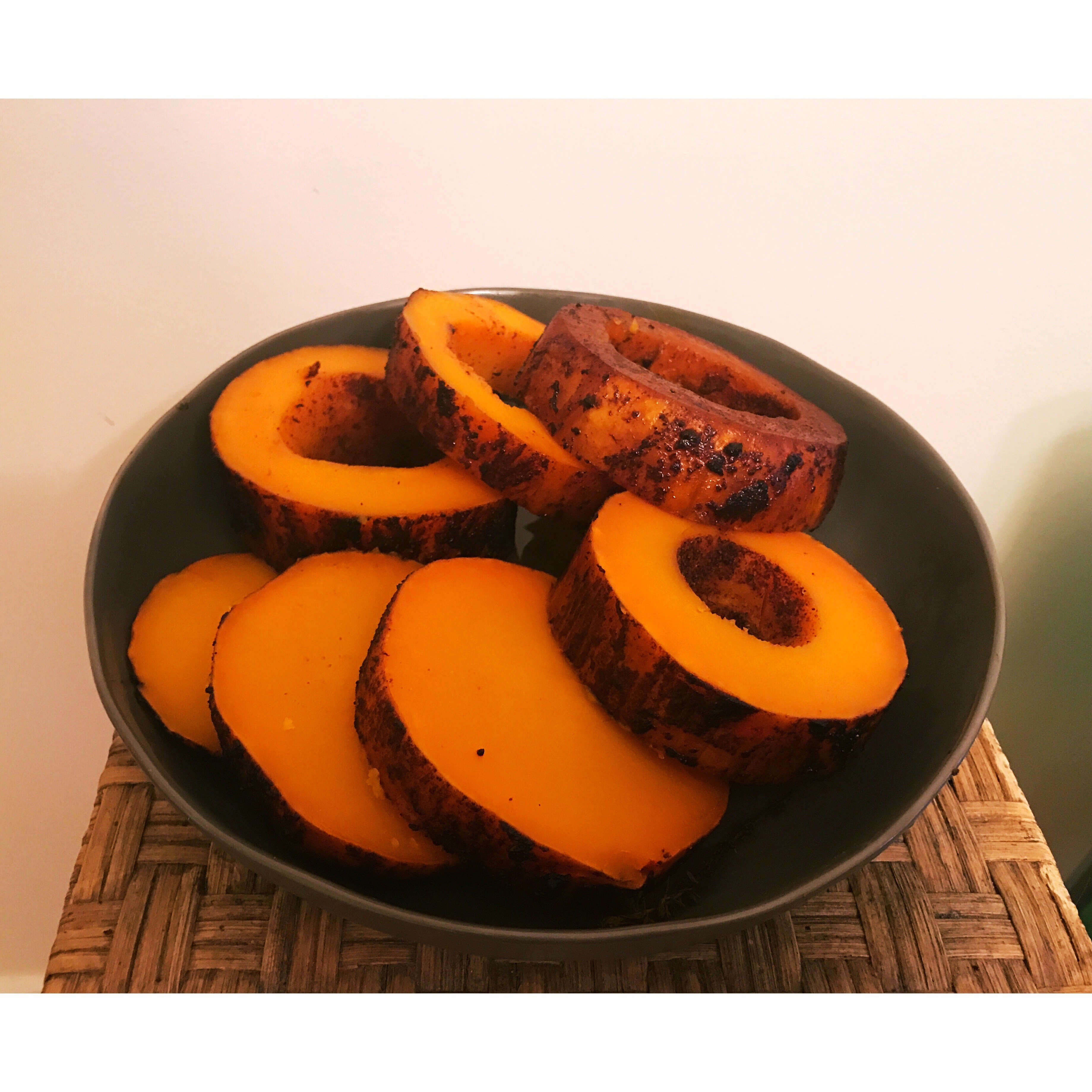 beer can squash sliced