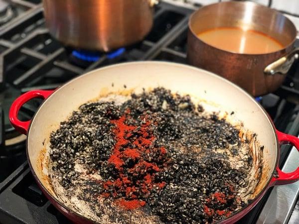 black rice paprika