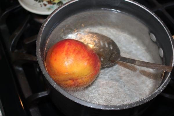 boiling peach