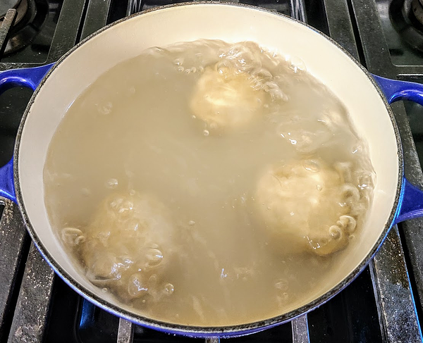 boiling plums