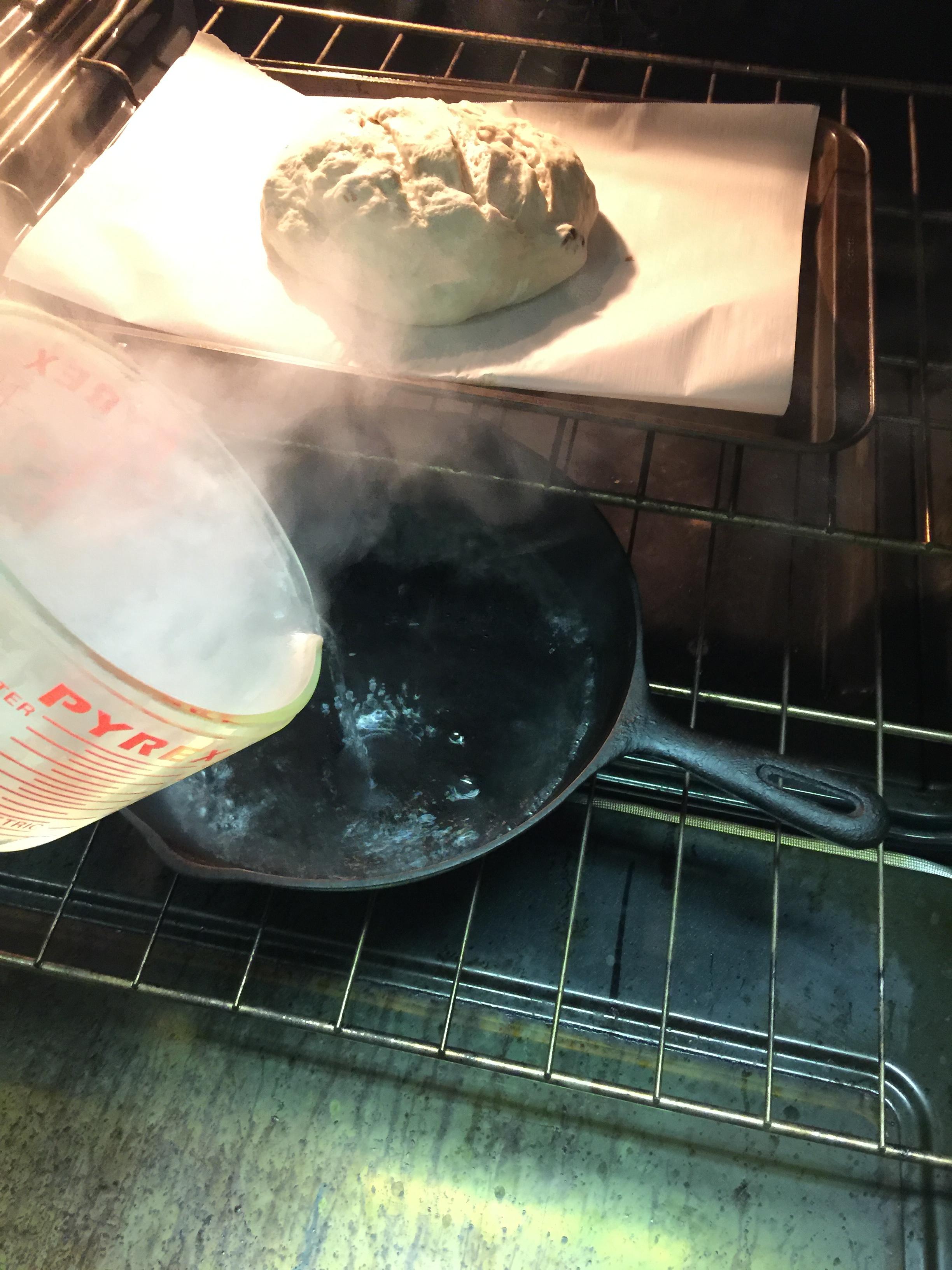 bread cast iron steam