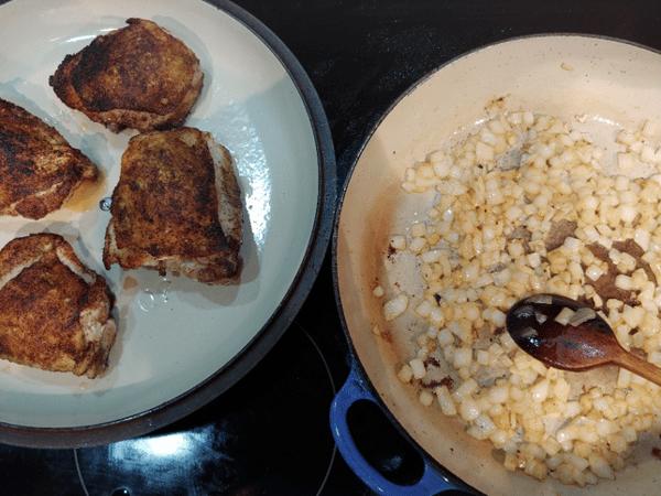 chicken and saute