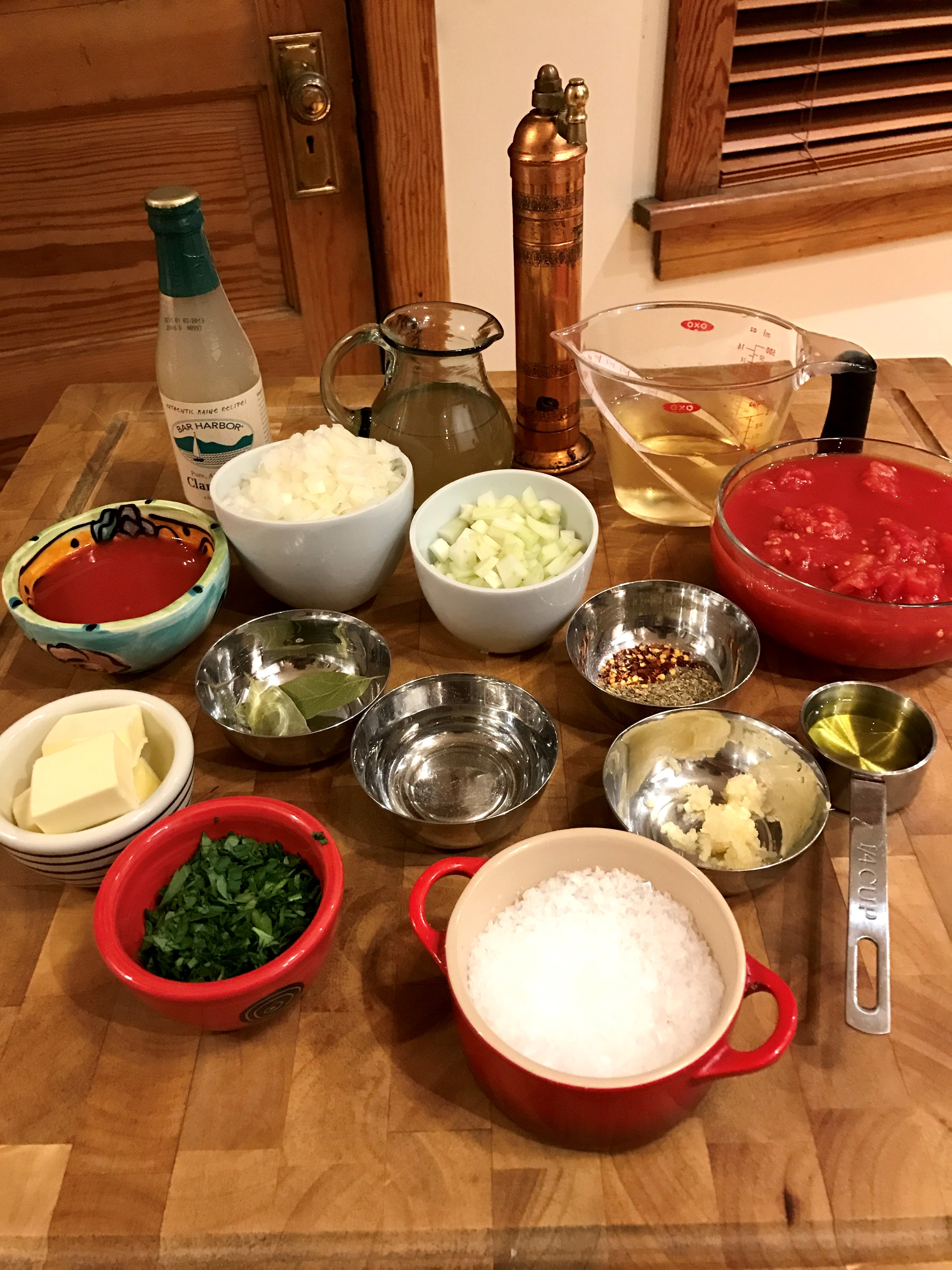cioppino mise en place