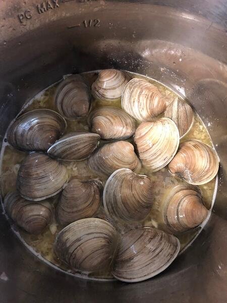 clams in instant pot