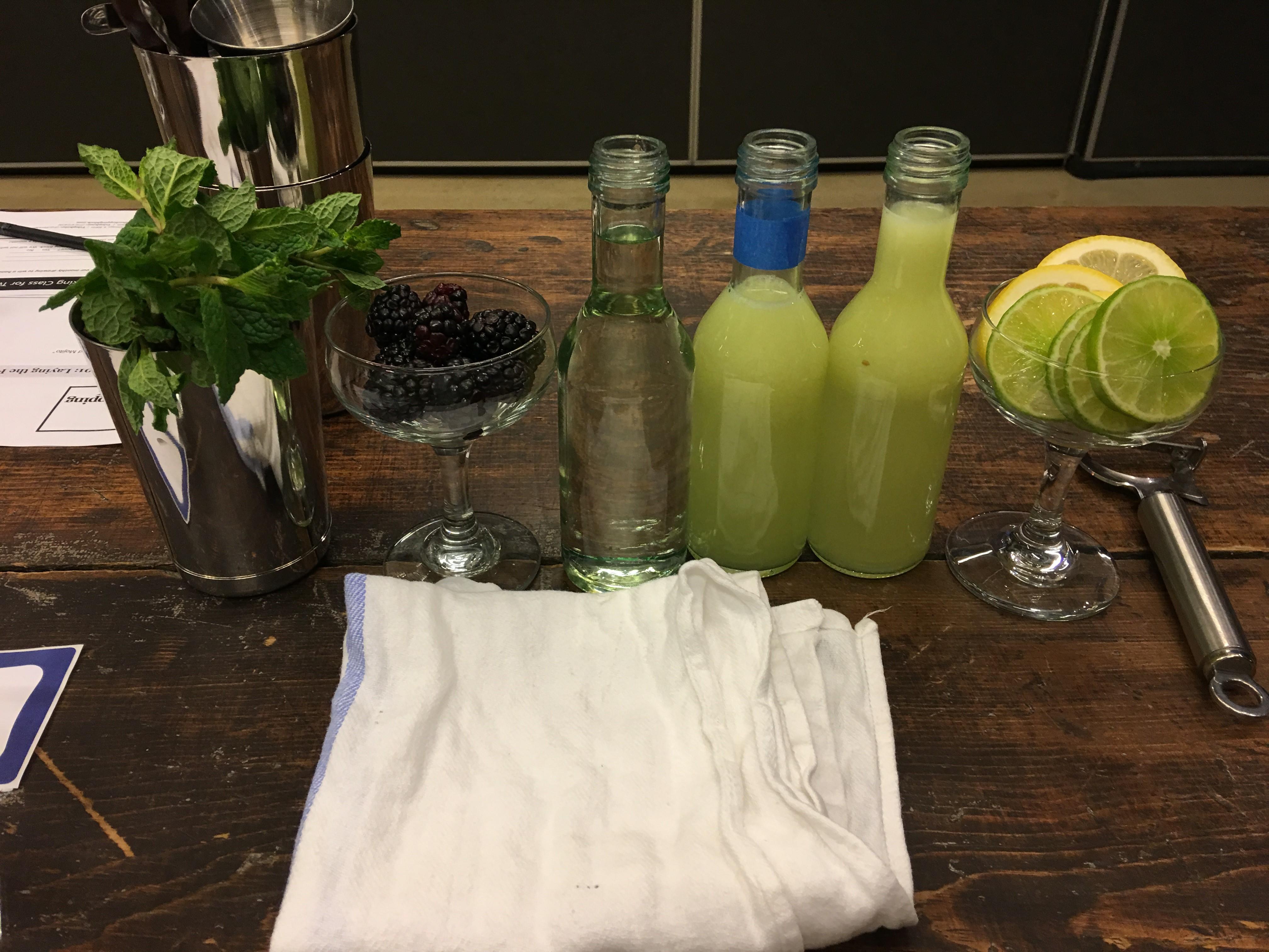 cocktail ingredients