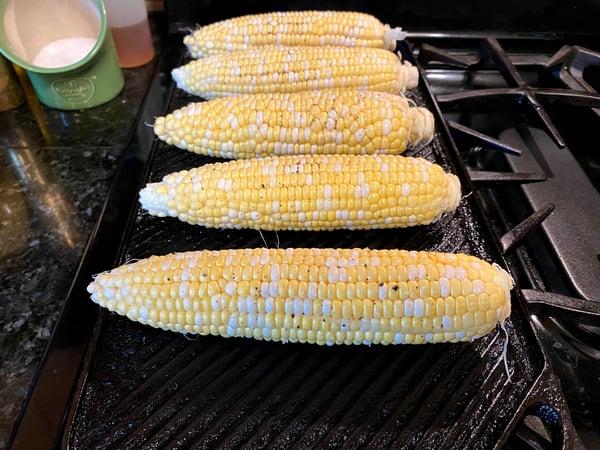 corn on grillpan