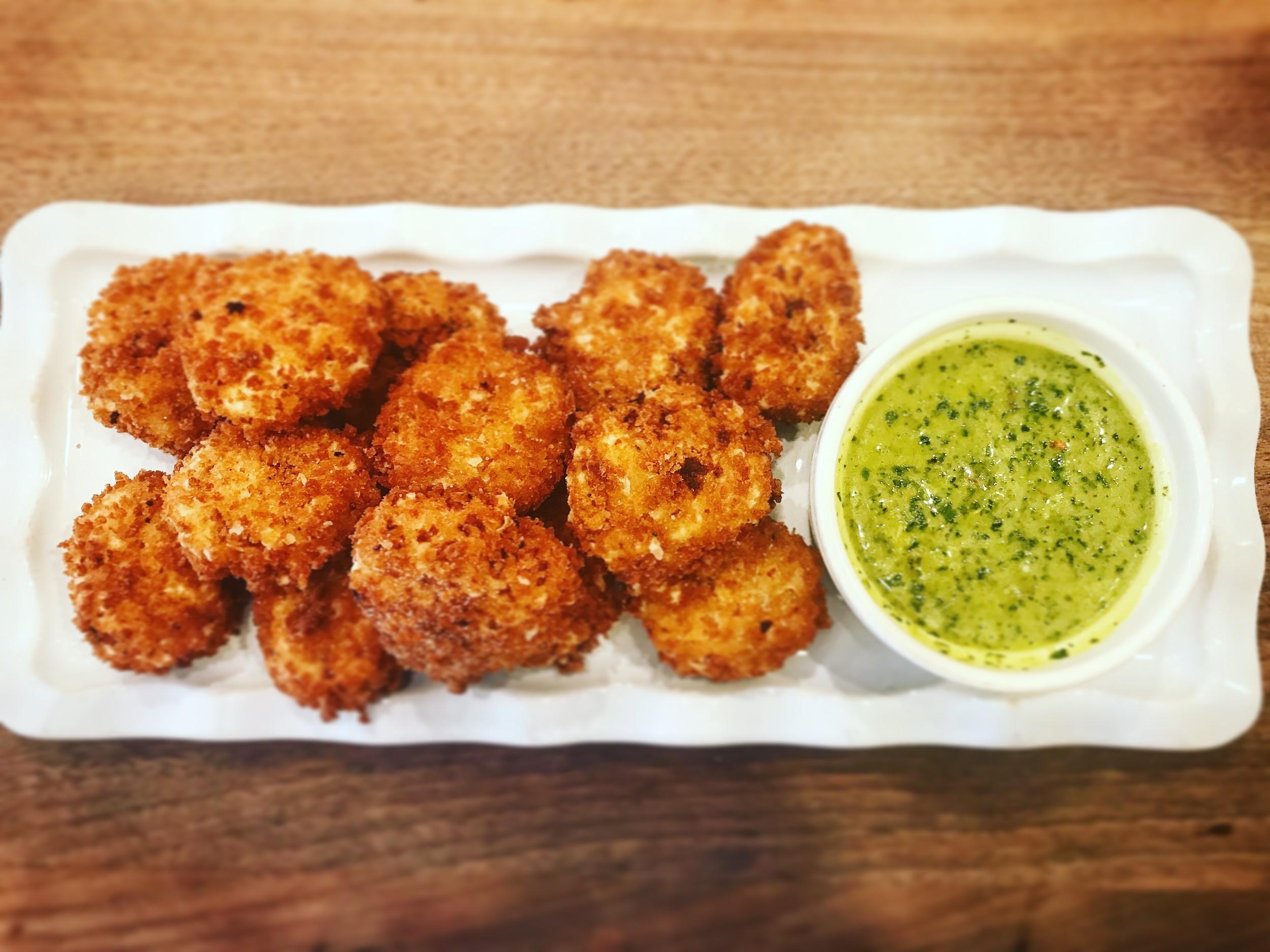 croquettas with chimichurri sauce sauce
