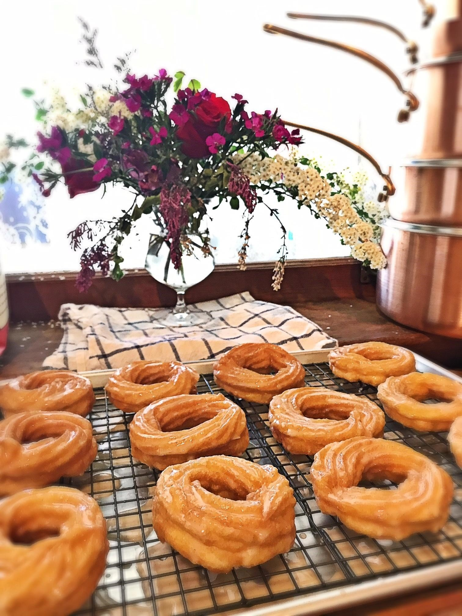 cruller dough finished