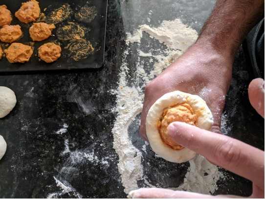 dough pimento push down