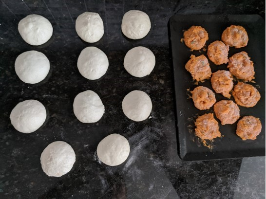 dough with pimento