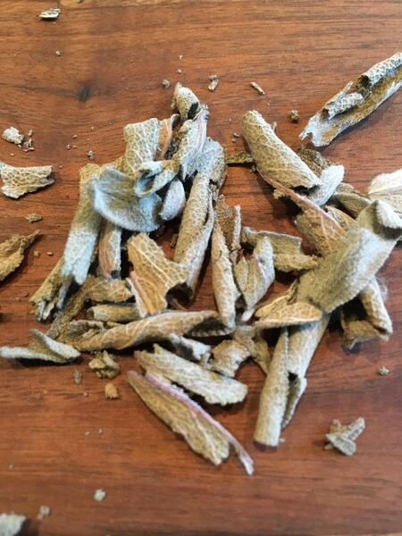 dried sage picked