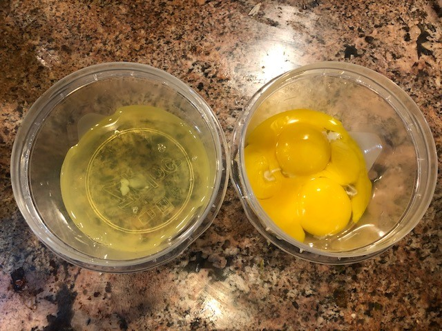 eggs separated