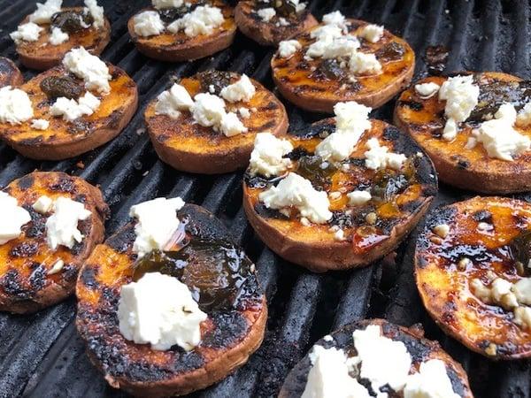 feta cheese potatoes on grill
