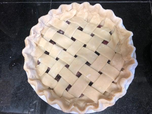 finished raw pie