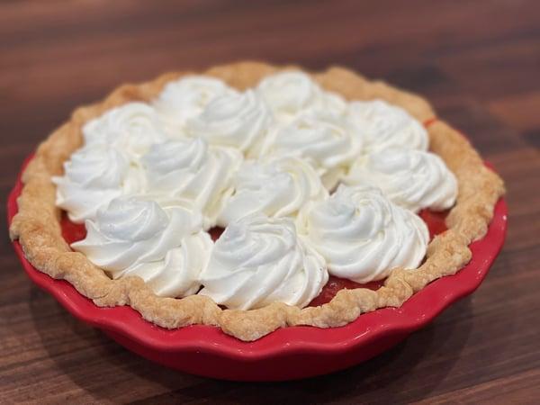 finished strawberry pie 2