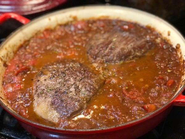 flank steak in sauce