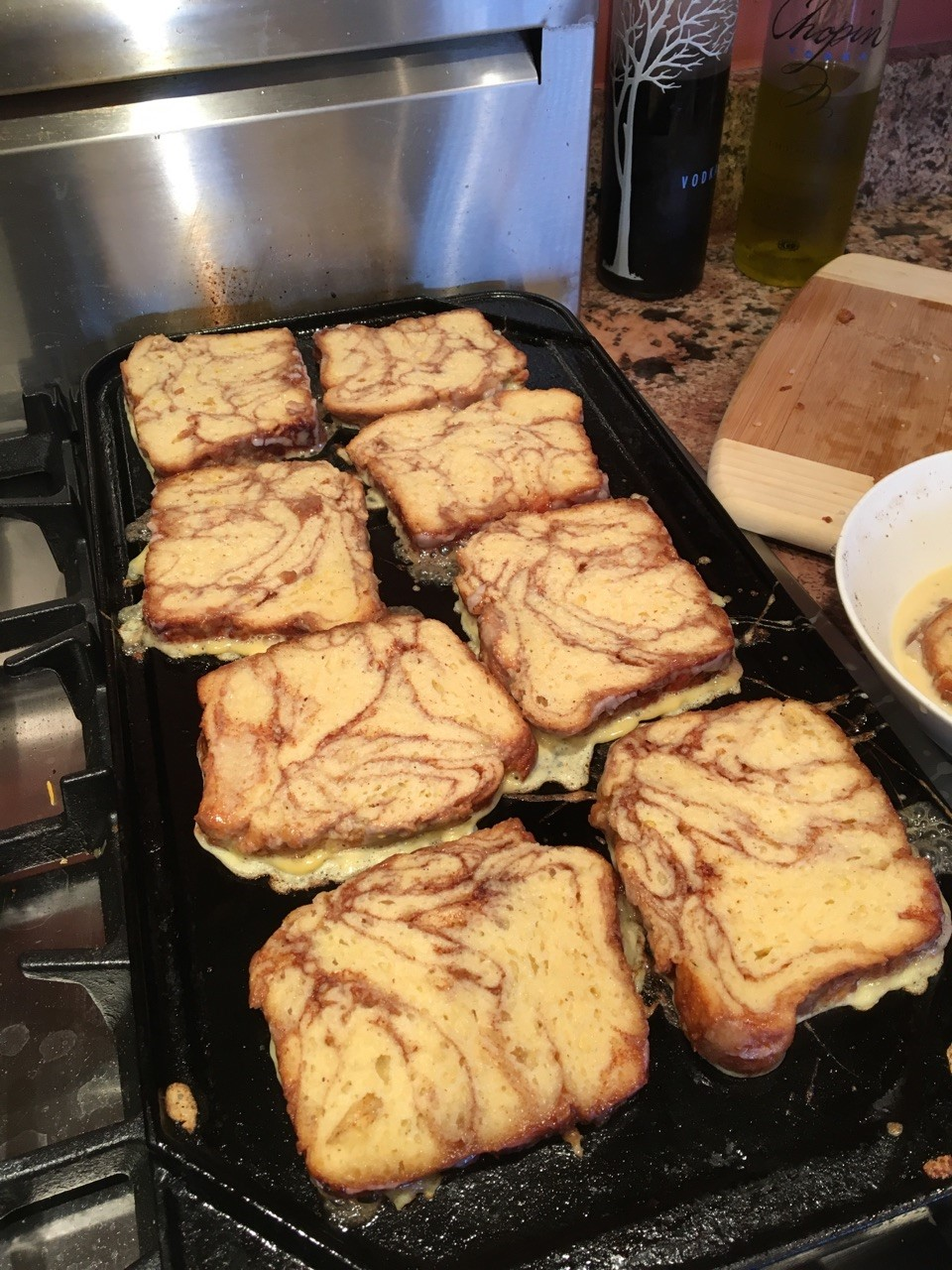 french toast on griddle