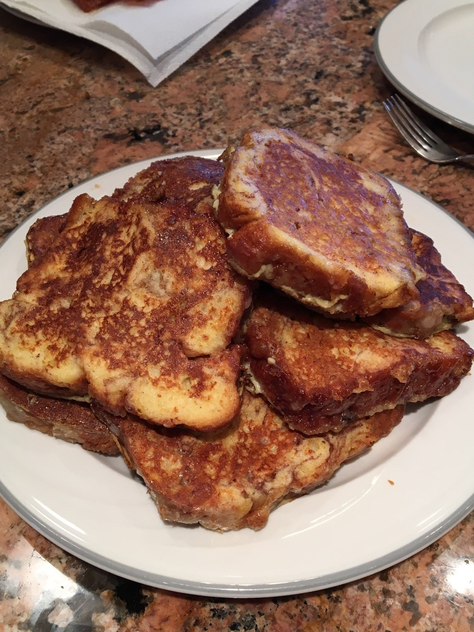 french toast plated