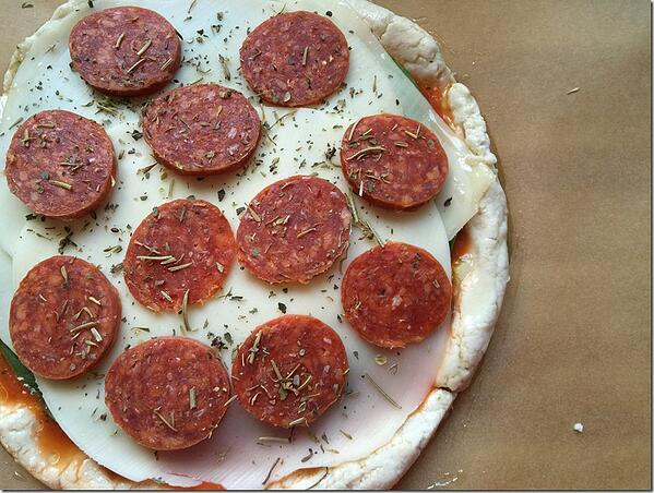 gluten free pizza unbaked