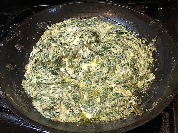 grated cheeses spinach