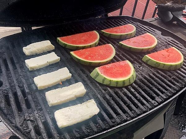 grilled watermelon and cheese