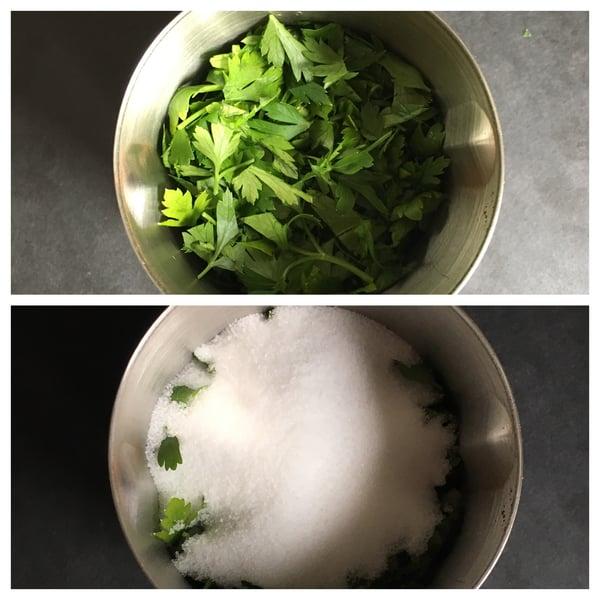 herbs salt bowls