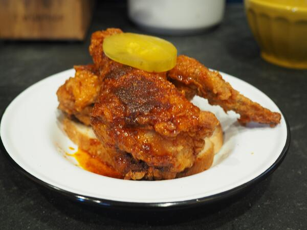 hot chicken plated