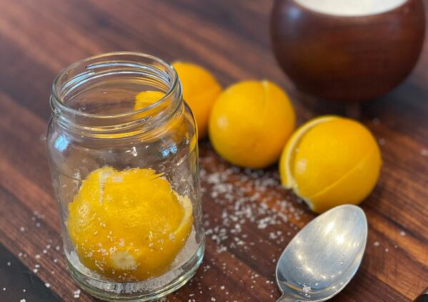 jar and lemons