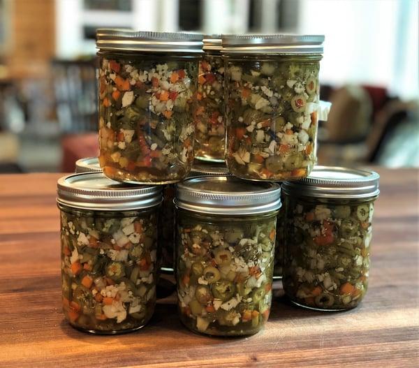 jars of giardiniara