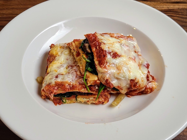 lasagna plated