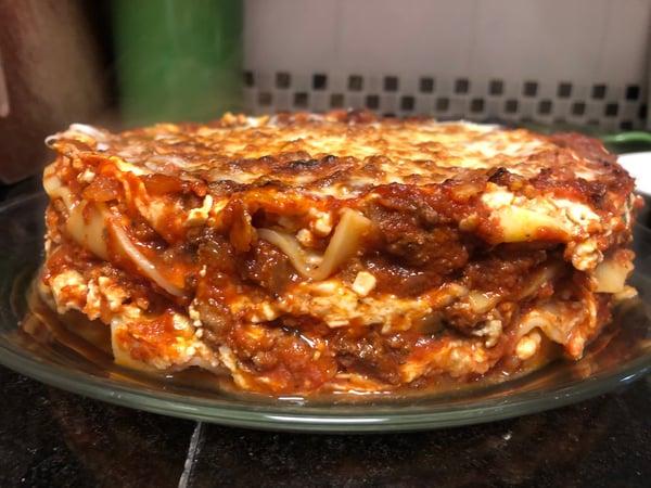 lasagna unmolded