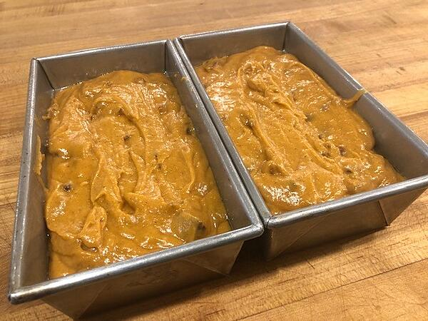 loaf pans filled