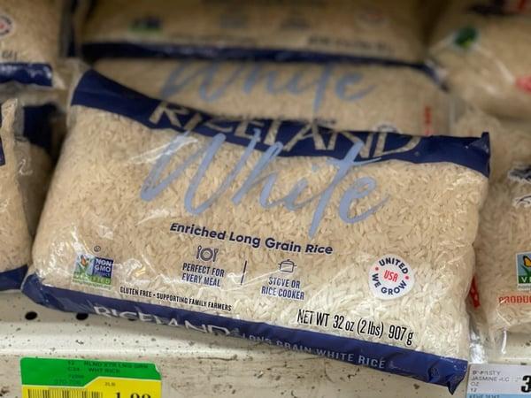 long grain rice store