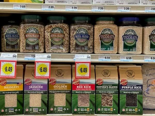 many varieties of rice
