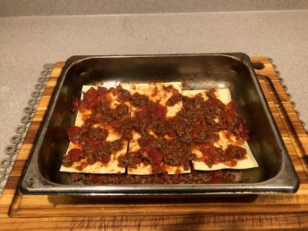 meat sauce layere