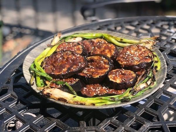 miso eggplant plated