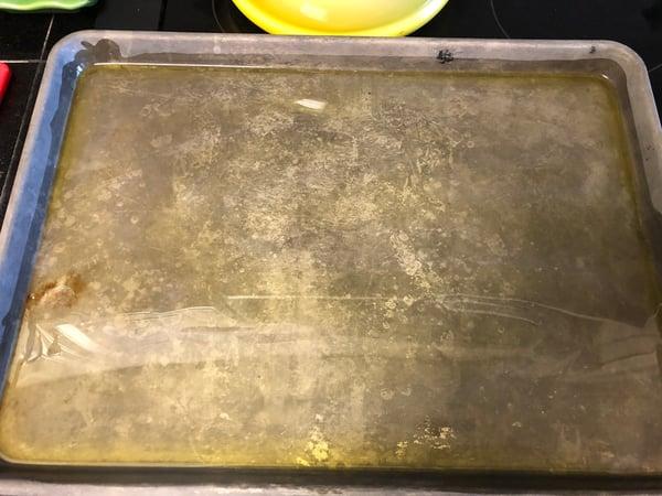 oiled sheet pan