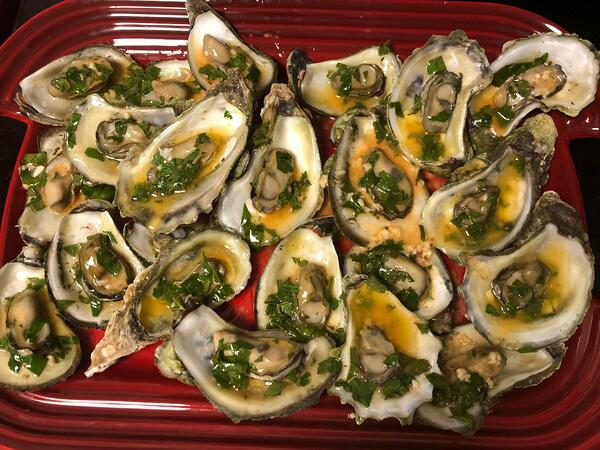 oysters with cajun garlic butter