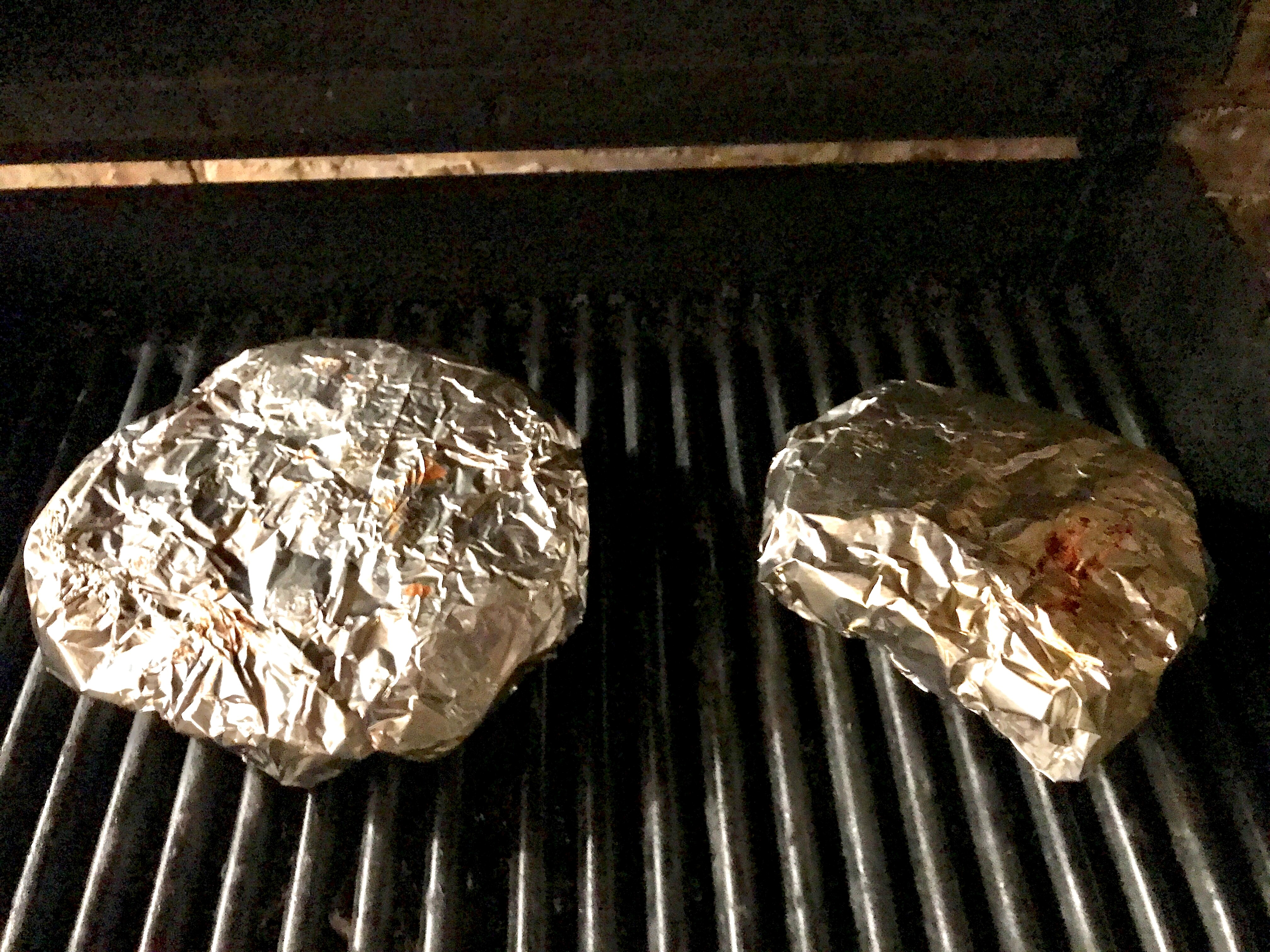packets on grill