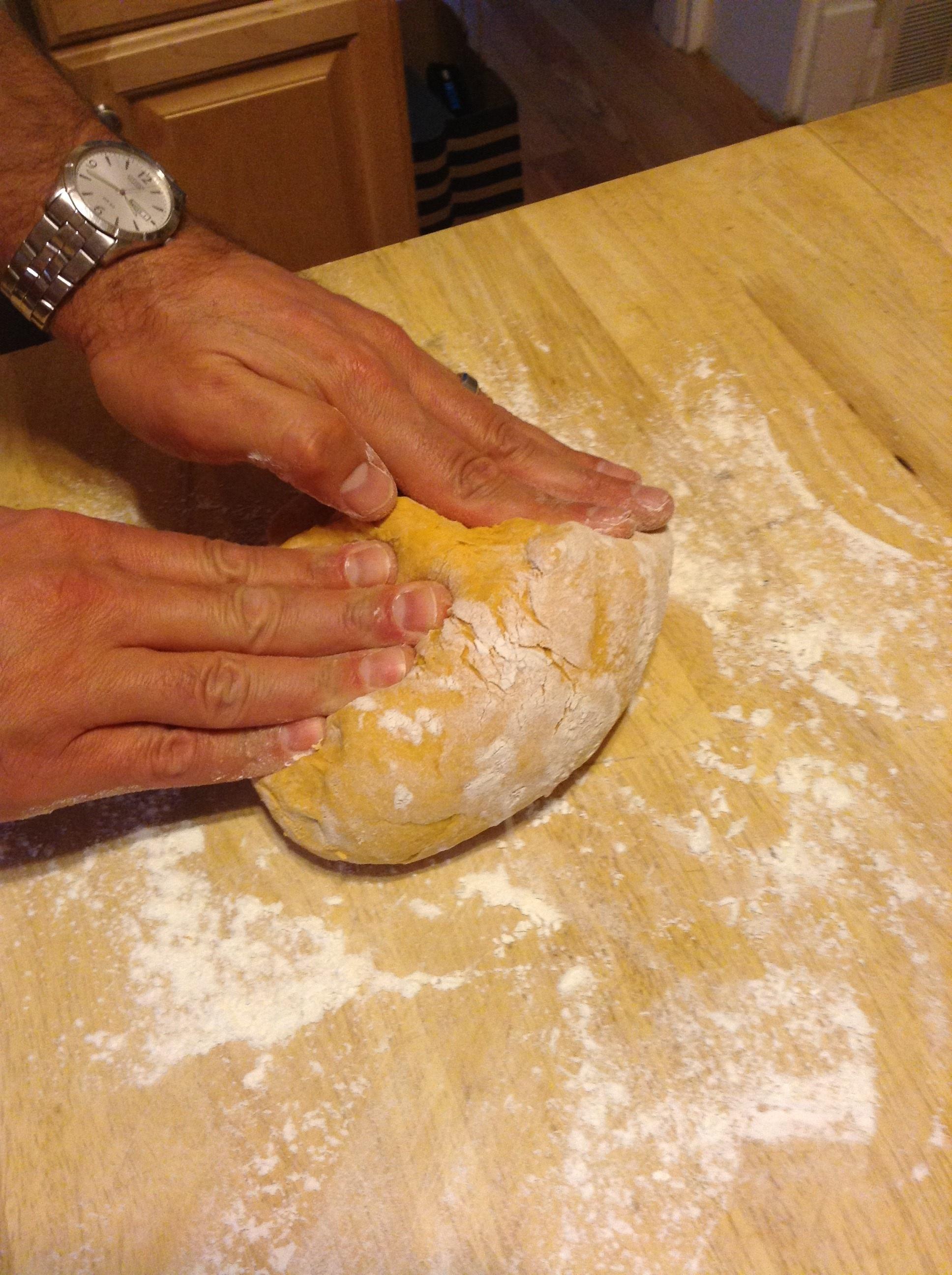 pasta dough knead