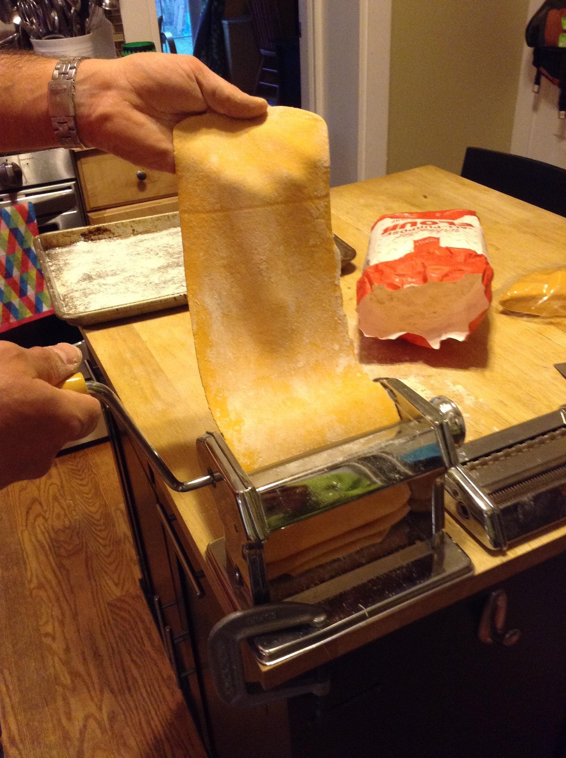pasta dough roll
